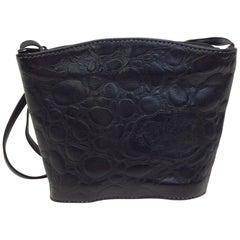 Carlos Falchi Vintage Black Leather Crossbody
