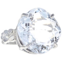 24 Carat Silver Quartz Sterling Silver Ring