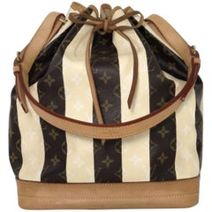 Louis Vuitton Limited Edition Monogram Rayures Noe GM Drawstring Bucket Handbag