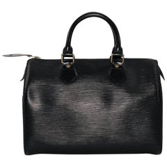 Louis Vuitton Epi Speedy 25 in Black Satchel Handbag
