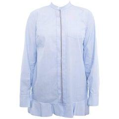 Brunello Cucinelli Light Blue Shirt with Chain Trim - S