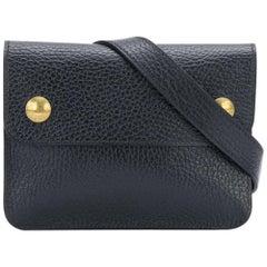 Hermès Black clutch belt 1996