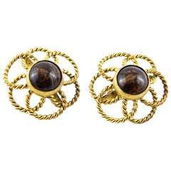 YSL Collector by Roger Scemama Flowers Earrings 1966