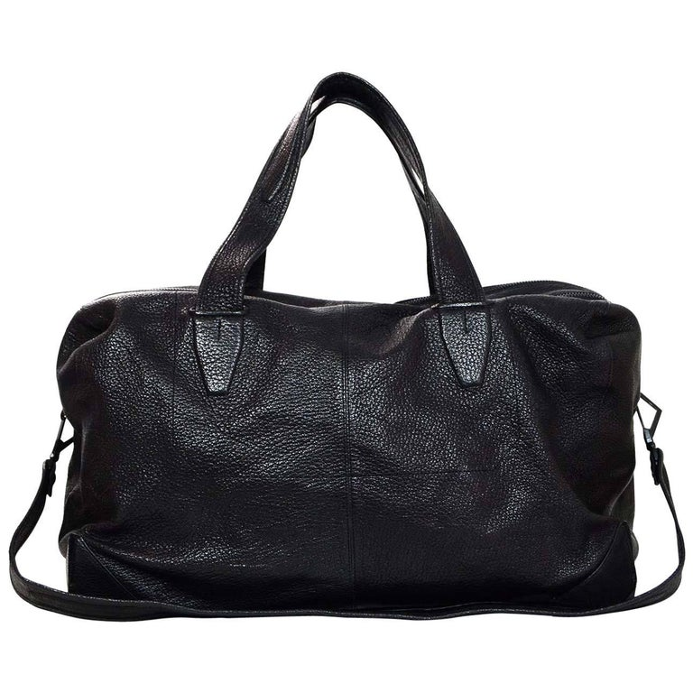 Alexander Wang Black Leather Wallie Duffle Bag