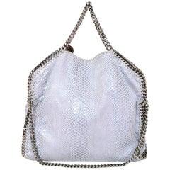 Stella McCartney Heather Grey Embossed Python Falabella Shoulder Bag