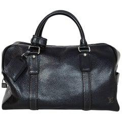 Louis Vuitton Black Noir Tobago Leather Carryall Duffel Bag rt. $2,100