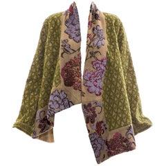 Dries Van Noten Runway Hemp Wool Floral Embroidered Beaded Jacket, Fall 2003
