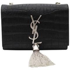 Yves Saint Laurent Kate Small Crocodile Print Leather