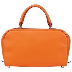 2007 Hermes Orange H Epsom Leather Sac Envi 26cm