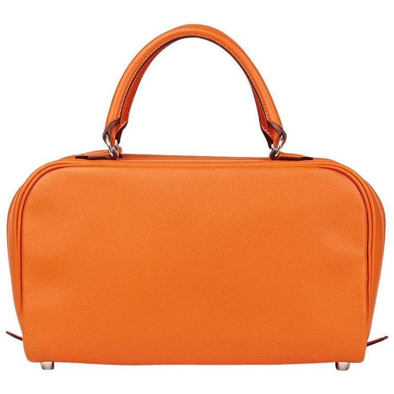 2007 Hermes Orange H Epsom Leather Sac Envi 26cm