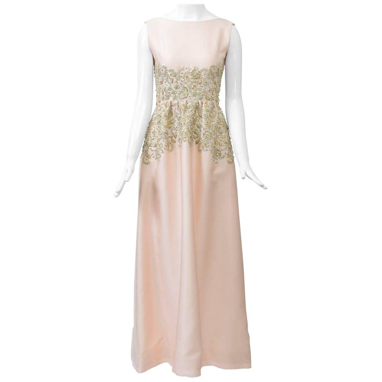 Pink 1960s Gown with Beading