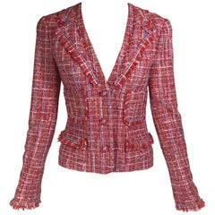 Chanel Fringe-Trimmed Tweed Blazer