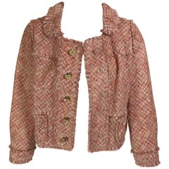 Louis Vuitton Red Tweed Linen Jacket