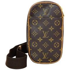Louis Vuitton Monogram Canvas Pochette Gange Body Bag with DB