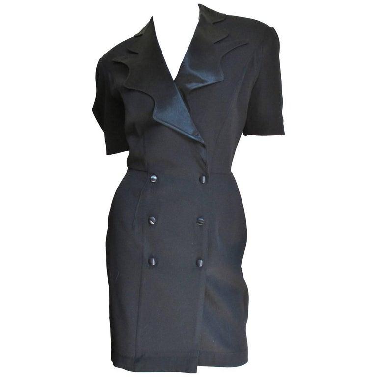 1990s Thierry Mugler Dress with Back Cutout