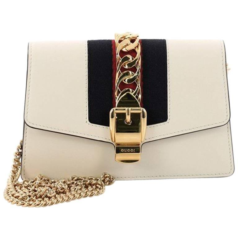 9e63298c5 Gucci Sylvie Chain Crossbody Bag Leather Mini at 1stdibs