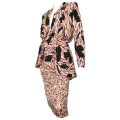 Saint Romei for Neiman Marcus 1980s Silk Dress Size 6.