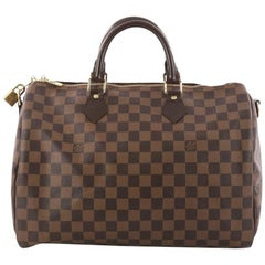 Louis Vuitton Speedy Bandouliere Bag Damier 35