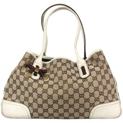Gucci Monogram Medium Princy Tote 163805 GG Canvas Leather with Dustbag