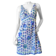1960's Emilio Pucci for Formfit Rodgers Floral Mod Slip Dress