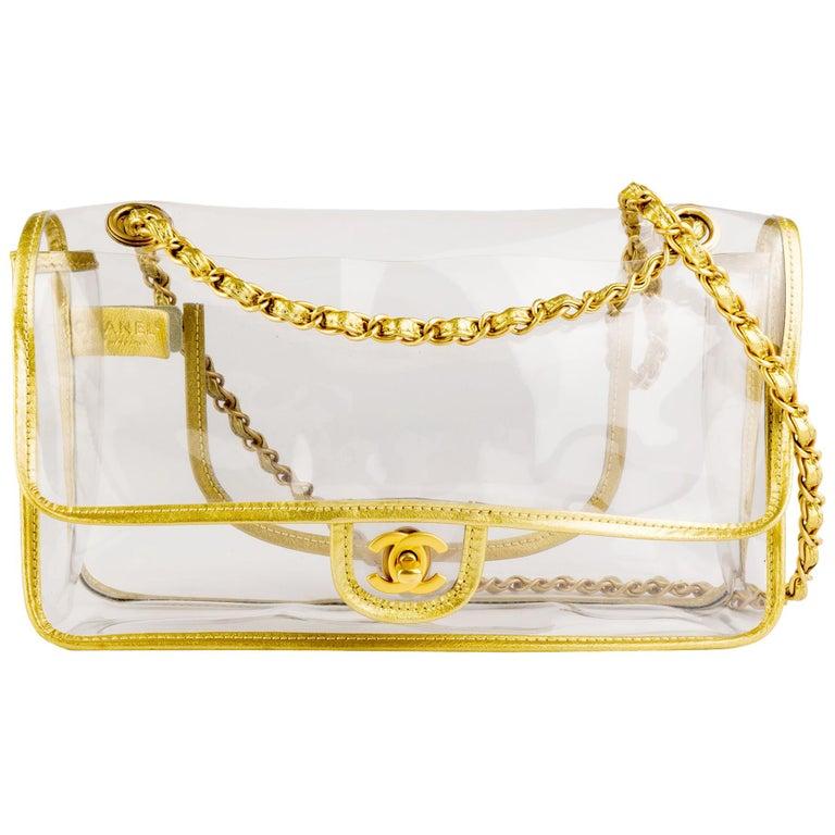 Chanel Transparent Gold Classic Medium Flap Bag