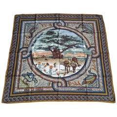 Hermès Gorgeous Silk Scarf Sous Le Cèdre Dimitri Rybaltchenko Mosaic 88 cm