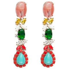 Dangling Earrings With Colorful Agates from IOSSELLIANI