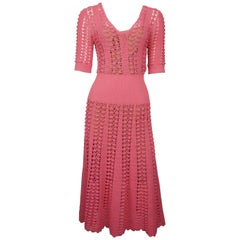 Michael Kors Pink Knit Dress - Small