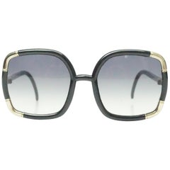 Ted Lapidus Black Vintage Sunglasses - Circa 70's