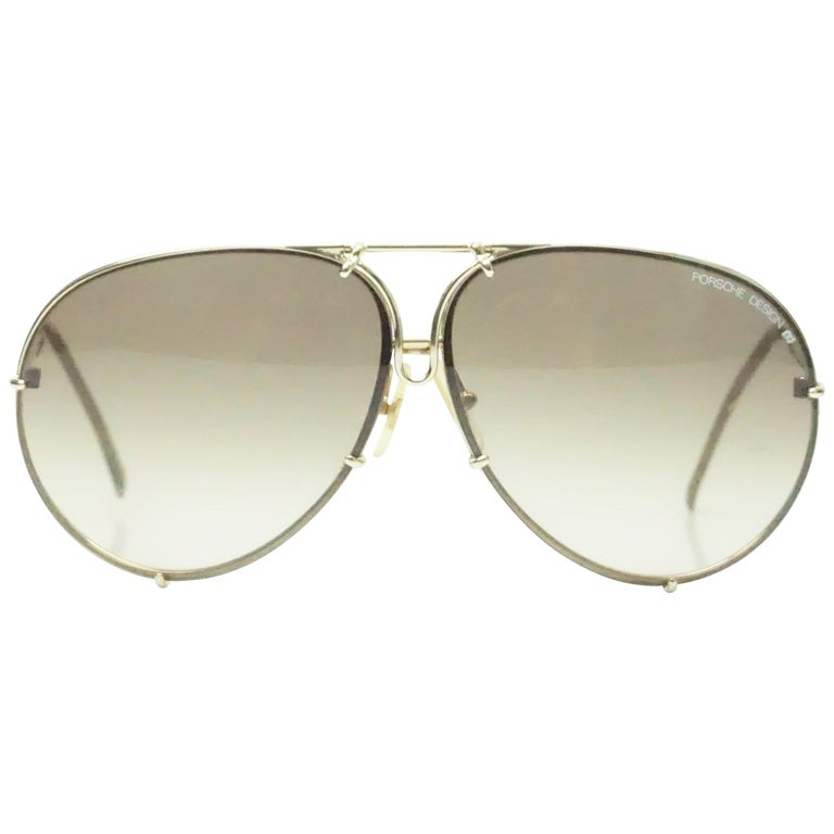 fbebe413d2b905 Porsche Design Aviator Style Vintage Sunglasses im Angebot bei 1stdibs