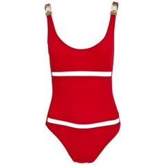 Paco Rabanne Red One Piece Bathing suit