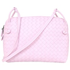 Bottega Veneta Light Pink Intrecciato Nodini Crossbody Bag with Dust Bag