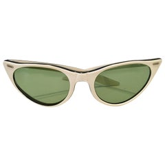 "50'S Ray Ban Style Authentic ""Cats Eye"" Two Tone Sunglasses"
