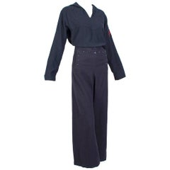 ca 1967 US Navy Crackerjack Sailor Pant and Middy Shirt Ensemble