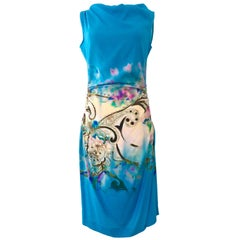 New & Contemporay Silk Print Shift Dress By, Etro Size 8