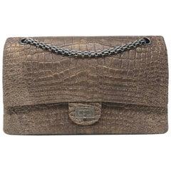 Chanel Alligator Reissue 2.55 Classic Double Flap Bag