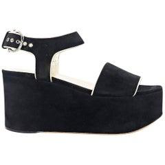 Black Salvatore Ferragamo Wedge Sandals