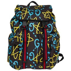 2017 Gucci Black, Blue & Yellow Canvas GucciGhost Techpack Backpack