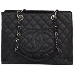 Chanel Black Quilted Caviar Leather  GST Grand Shopping Tote, 2012