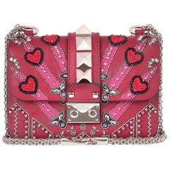 Valentino Rockstud Lock Mini Love Blade Embellished Shoulder Bag