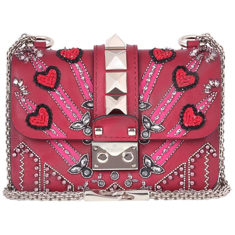 a7d9ae67d35 Valentino Rockstud Lock Mini Love Blade Embellished Shoulder Bag For Sale