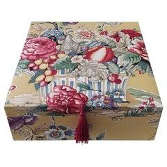 Decorative Manuel Canovas Fabric Tissu Storage Box for Scarves