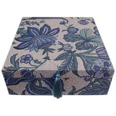 Decorative Cotton Fabric Storage Box for Scarves