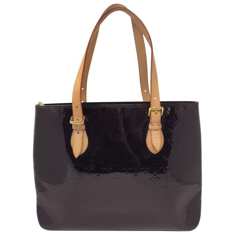Louis Vuitton Brentwood Amarante Vernis Tote Bag For Sale
