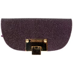 Jimmy Choo Shagreeen / Stingray Purple Clutch / Wristlet