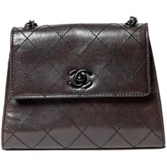 Chanel Vintage Shoulder Bag with Black Hardware