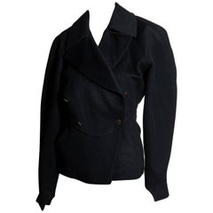 Azzedine Alaia Vintage Black Wool Jacket - US 6