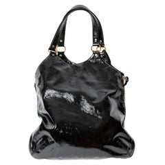 Yves St Laurent Black Patent Tribute Bag -  Very Good Condition