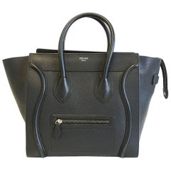 Celine Mini Luggage in black with silver hardware
