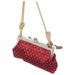 Red Valentino Floral Satin Polka-Dot Shoulder Bag